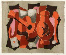 Tony Agostini (French, 1916-1990)      Guitar and Vase
