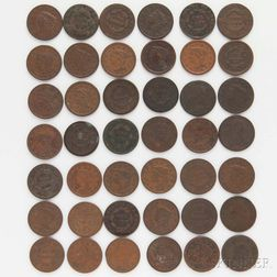 Forty-two Large Cents