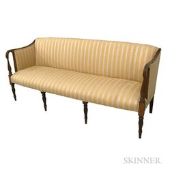 Federal Upholstered and Inlaid Mahogany Sofa