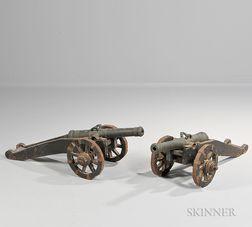 Pair of Miniature Bronze Signal Guns