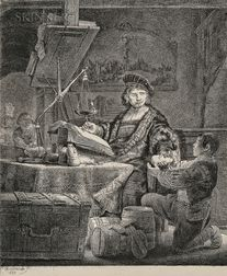 Rembrandt Harmensz van Rijn (Dutch, 1606-1669)      Jan Uytenbogaert, The Goldweigher