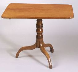 Regency Mahogany Tilt-top Tripod Breakfast Table