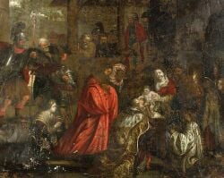Italian School, 16th Century Style  Adoration of the Magi