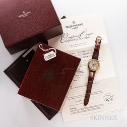 Patek Philippe 18kt Gold Reference 5035 Wristwatch with Boxes and Papers