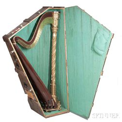 French Double-action Concert Harp, Erard, Paris, 19th Century