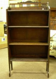 Late Victorian Oak Collapsible Open Bookcase.