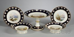 Eighteen-Piece Hand-painted Porcelain Dessert Service