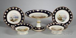 Eighteen-Piece Hand-painted Porcelain Dessert Service