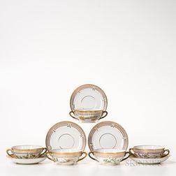 Sixteen Royal Copenhagen Flora Danica Soup Cups and Saucers