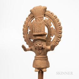 Pre-Columbian Figurative Flute