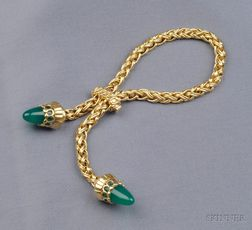 14kt Gold and Chalcedony Bracelet