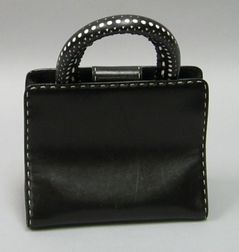 Gianfranco Ferre Black Leather Purse.
