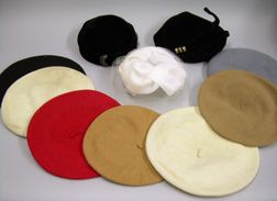 Seven Wool Berets and Three Vintage Ladies' Hats
