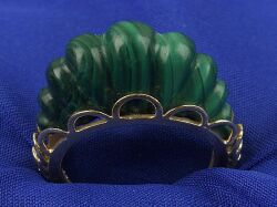 14kt Gold and Malachite Ring