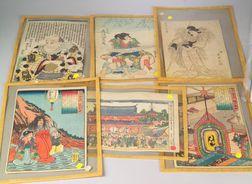 Six Japanese Prints
