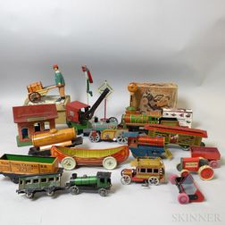 Group of Mostly Lithographed Tin Toys