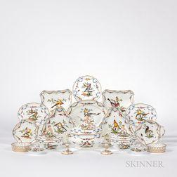 Meissen Porcelain Rothschild Bird Partial Dinner Service