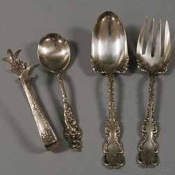 Four American Sterling Silver Flatware Items