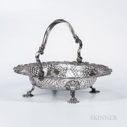 George II Sterling Silver Cake Basket