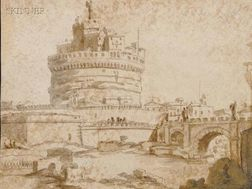 Continental School, 18th Century      View of the Castel Sant'Angelo, Rome