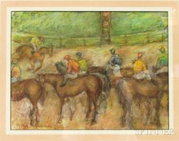 Manner of Gertrude Savageau Freeman (American, 1892-1991)    Race Day at Deauville