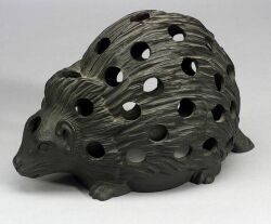 Wedgwood Black Basalt Hedgehog Crocus Pot
