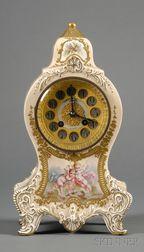 Longwy Earthenware Mantel Clock