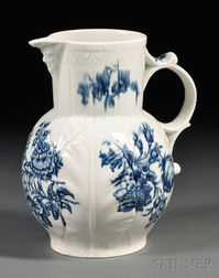Dr. Wall Period Worcester Porcelain Mask Jug