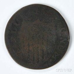 1787 New Jersey Copper, Maris 6-D.     Estimate $50-100