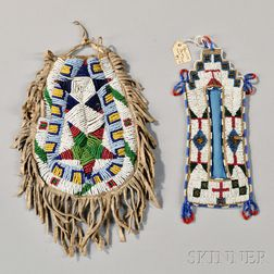 Two Lakota Beaded Items