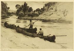 Frank Weston Benson (American, 1862-1951)  On the Kedgwick