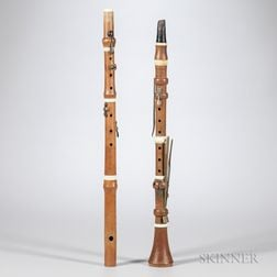 English Boxwood Clarinet in C, Hermann Wrede, London, c. 1820