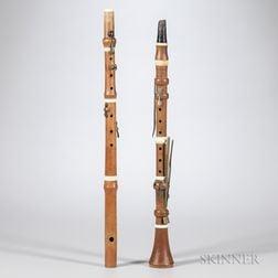 English Boxwood Clarinet in C, Hermann Wrede, London, c. 1820