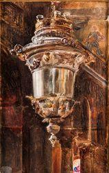 Attributed to Scipione Vannutelli (Italian, 1834-1894)      Lantern, St. Mark's, Venice