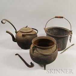 Four Cast Iron Cooking Items