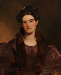 Thomas Sully (American, 1783-1872)      Portrait of Mrs. William Brown (Miss Deborah Norris), 1833