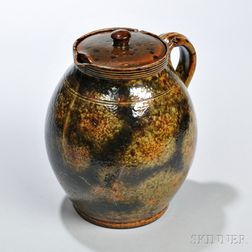 Redware Herb Pot
