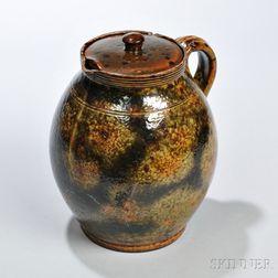Redware Herb Pot