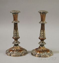 Pair of Sheffield Silver Plated Candlesticks