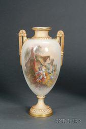 Royal Worcester Porcelain Handpainted Vase