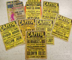 Twenty 1938 Movie Theater Window Cards