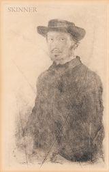 Edgar Degas (French, 1834-1917)      Edgar Degas, par lui-même