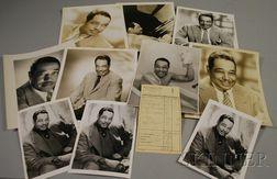 1959 Duke Ellington Signed Hotel Frankfurter Hof Guest Service Receipt and Twelve   Duke Ellington Publicity Portrait Photographs