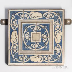 Arts and Crafts Grueby Architectural Tile Wall Plaque