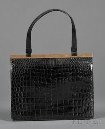 Vintage Alligator Handbag, Cartier Ltd., London
