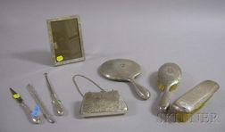 R. Wallace Eight-Piece Sterling Silver Dresser Set.