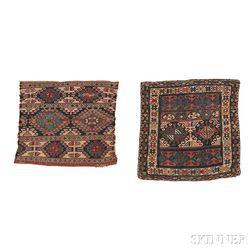 Two Shahsevan Soumak Bagfaces