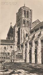 John Taylor Arms (American, 1887-1953)      Basilica of the Madeleine, Vézelay
