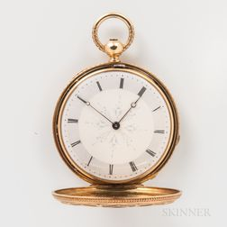 Patek Philippe & Co. for Tiffany & Co. 18kt Gold Enameled Hunter-case Watch