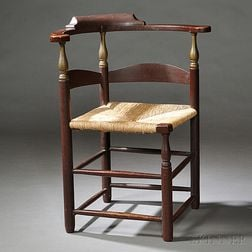 Red/Brown-painted and Gilt Roundabout Chair